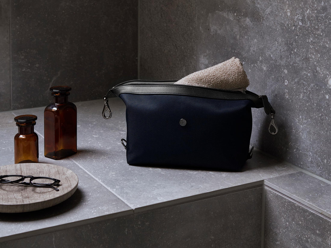 M/S Washbag – Deep blue/Black