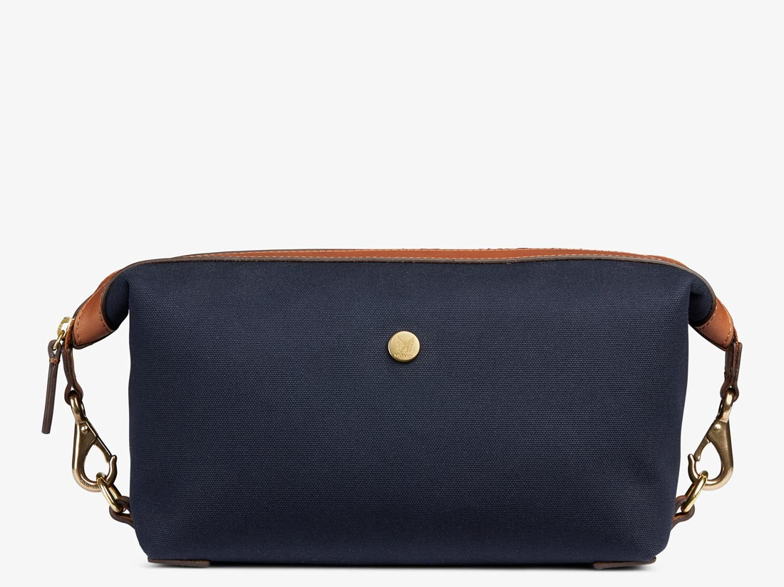 M/S WASHBAG - Midnight blue/Cuoio -  Washbag - Mismo