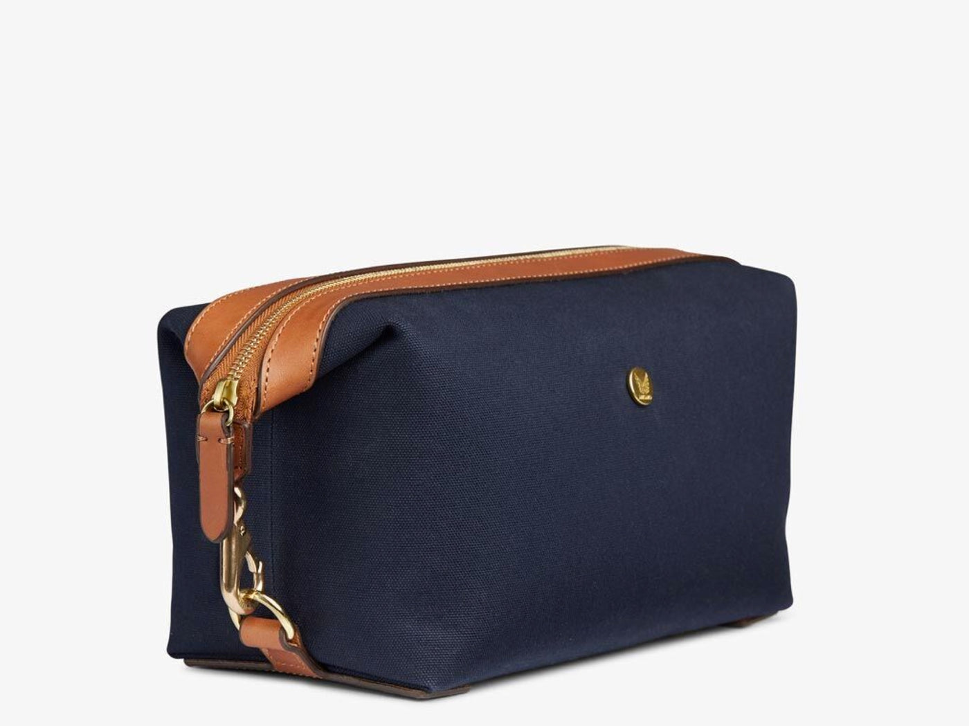 M/S Washbag - Midnight blue/Cuoio