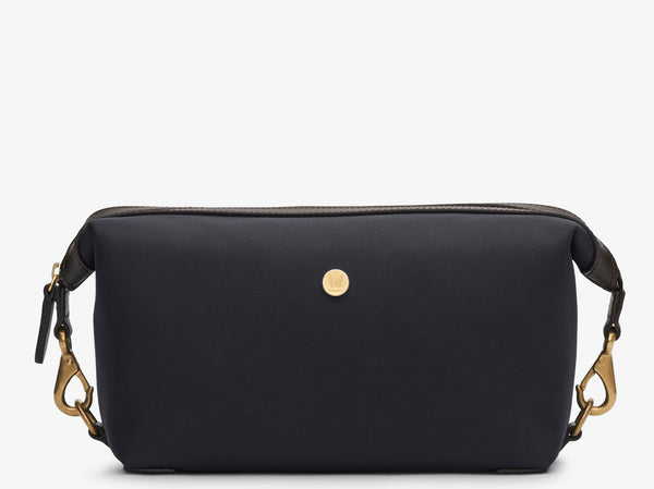 M/S Washbag – Navy/Dark brown