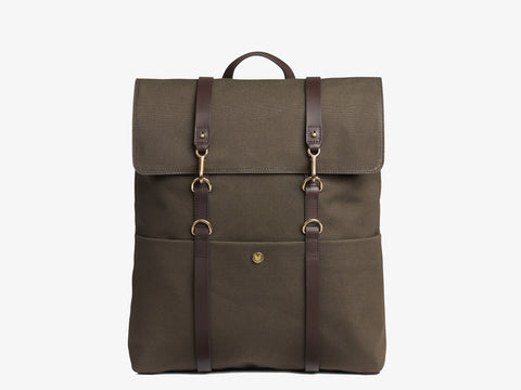 M/S Backpack – Army/Dark brown