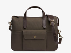 M/S Briefcase – Army/Dark brown -  Briefcase - Mismo