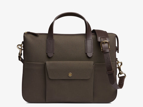 M/S Briefcase – Army/Dark brown