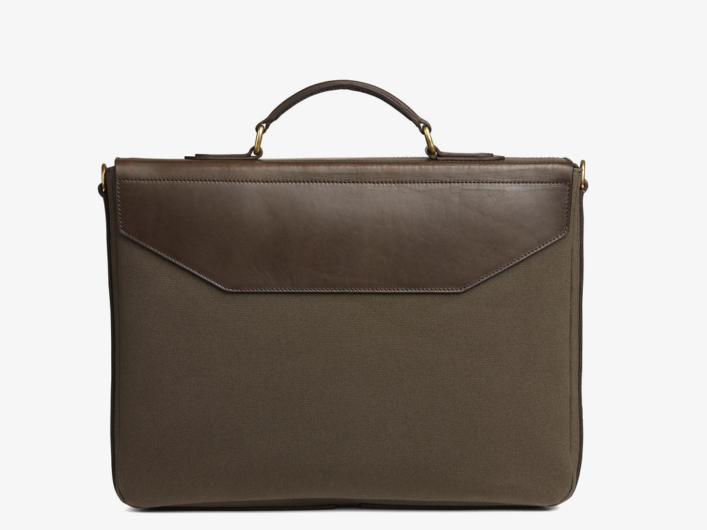M/S Bureau - Army/Dark brown -  Briefcase - Mismo