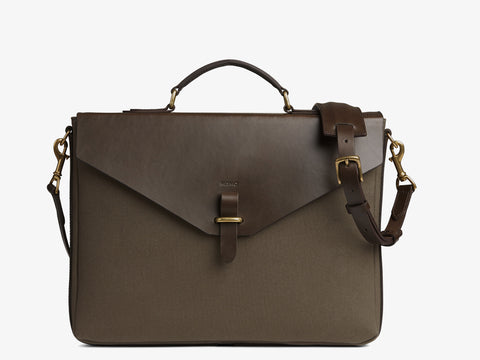 M/S Bureau - Army/Dark brown