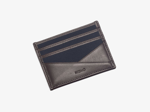 M/S Cardholder – Navy/Dark Brown