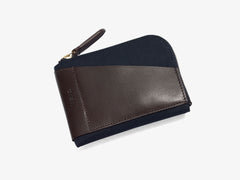 M/S Cards & Coins – Navy/Dark brown -  Wallet - Mismo