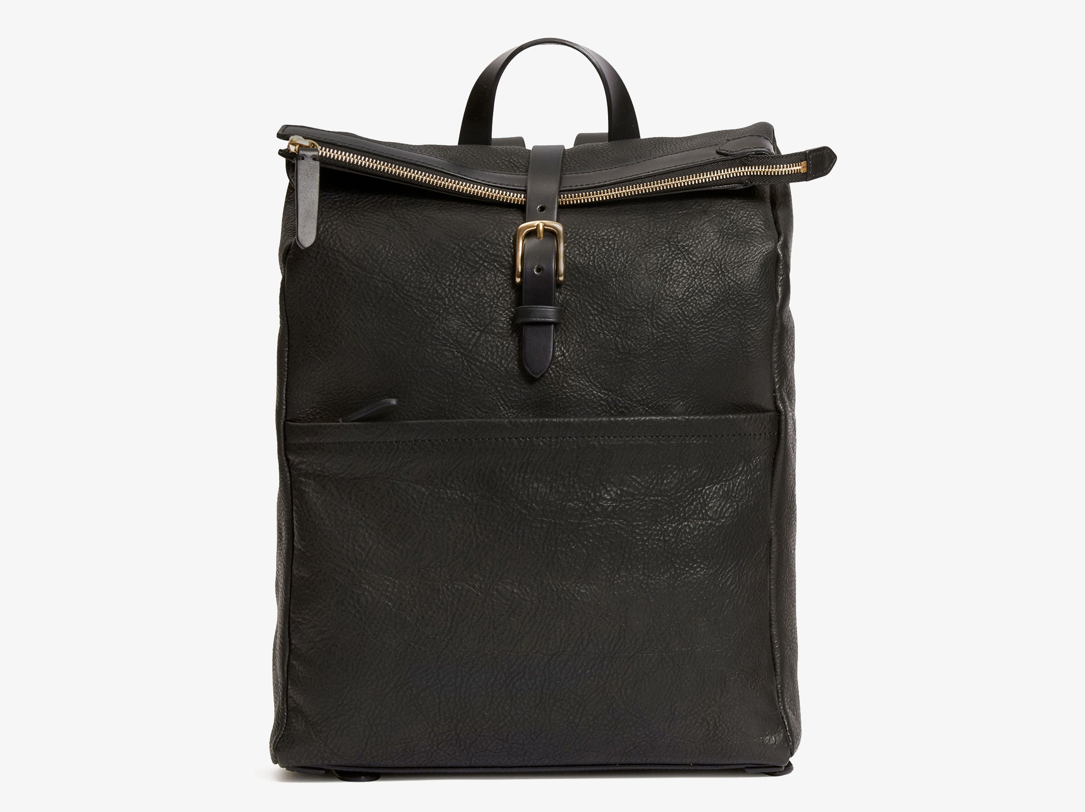000836c6a7 Leather Roll Top Backpack | Black Leather | Danish Design – Mismo ...
