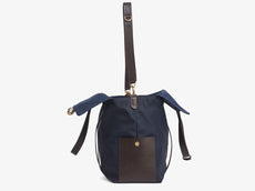 M/S Mega Tote – Navy/Dark Brown -  Tote bag - Mismo