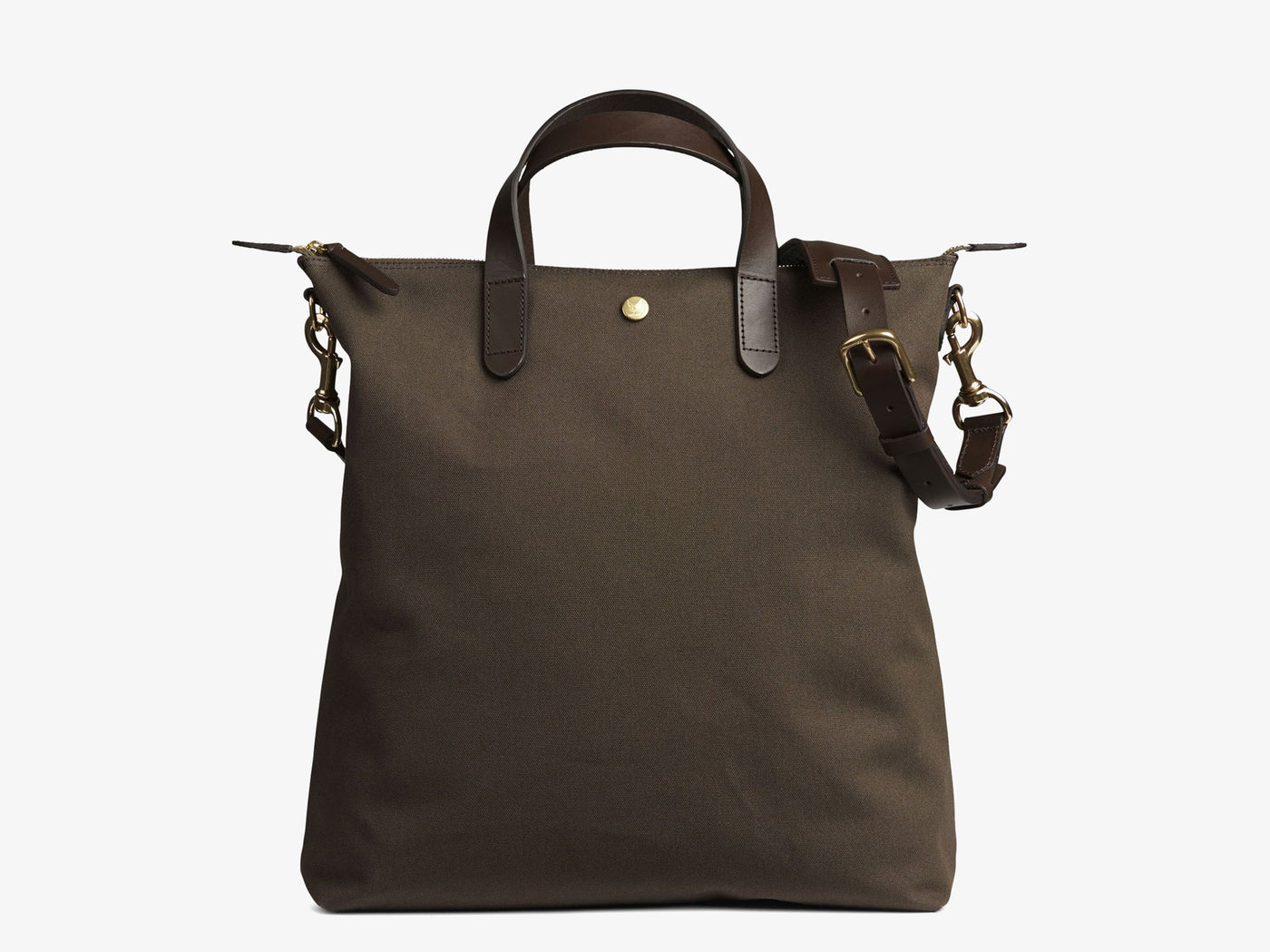 M/S Shopper – Army/Dark Brown -  Tote bag - Mismo
