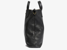 Shopper, Leather - Black/Black