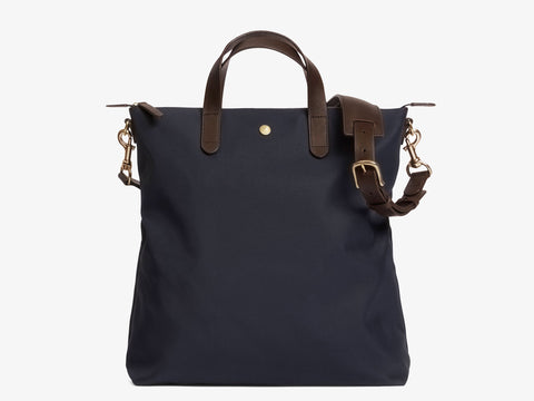 M/S Shopper – Navy/Dark Brown