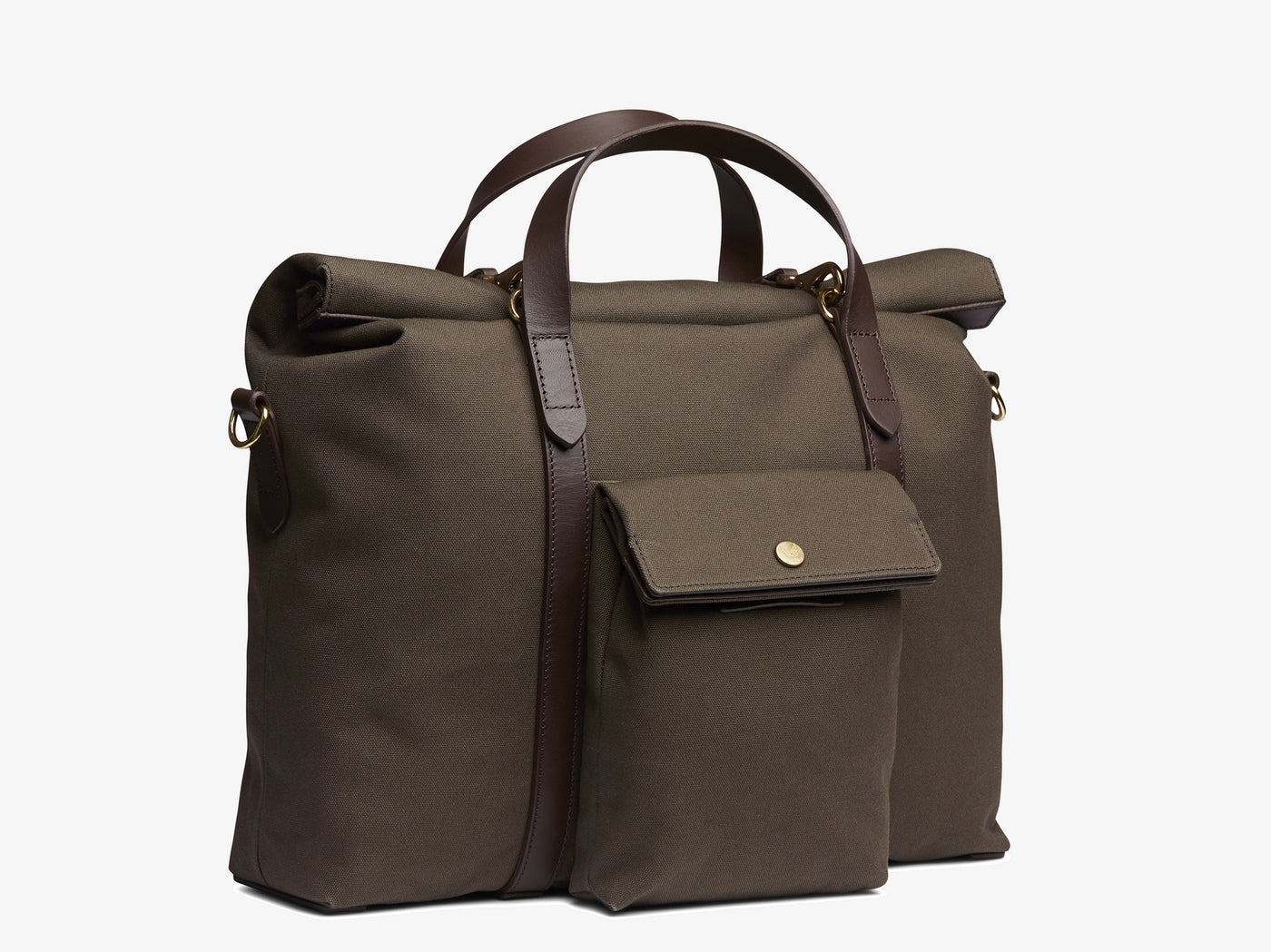 M/S Soft Work – Army/Dark Brown -  Briefcase - Mismo