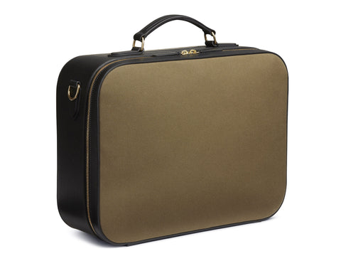 M/S Suitcase - Khaki/Black