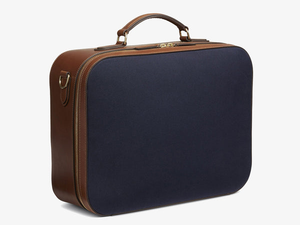 M/S Suitcase - Midnight blue/Cuoio -  Travel bag - Mismo