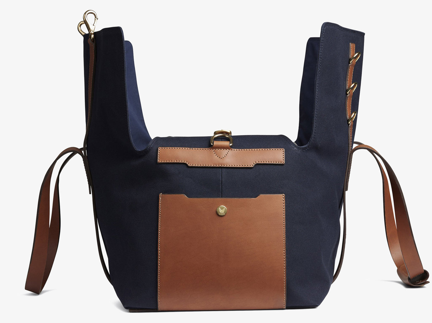 M/S Supply - Midnight blue/Cuoio -  Travel bag - Mismo