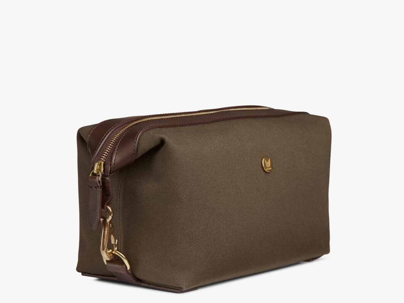 M/S Washbag – Army/Dark Brown
