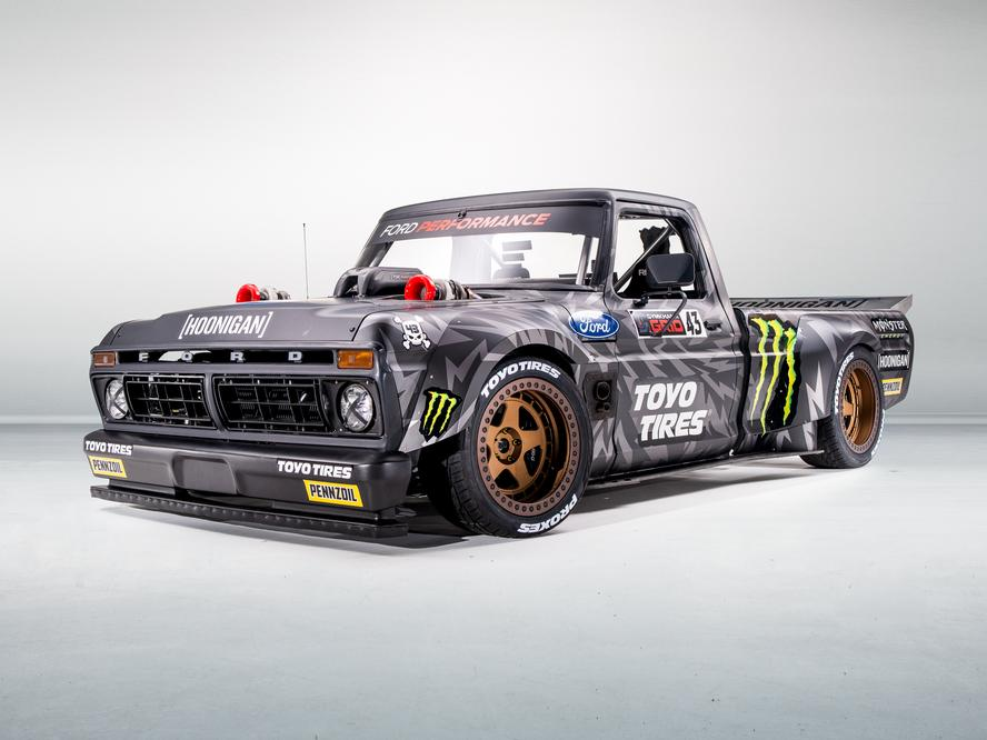 KEN BLOCK AND TOYO TIRES PRESENT: THE HOONITRUCK! THE ALL-NEW, MOST UNIQUE ALL WHEEL-DRIVE RACE TRUCK OF ALL TIME.