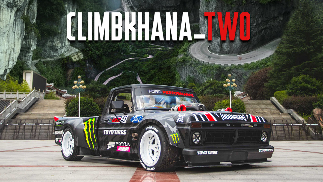 KEN BLOCK AND HIS HOONITRUCK TAKE ON ONE OF THE MOST DANGEROUS ROADS IN THE WORLD IN CLIMBKHANA TWO: TIANMEN MOUNTAIN IN CHINA!