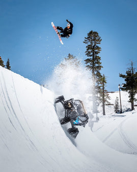 DESTROYING SKI RESORT TERRAIN PARK WITH A NEW CAN-AM ON TRACKS!! KEN BLOCK TEAMS UP WITH CAN-AM, BOREAL MOUNTAIN RESORT, WOODWARD PEACE PARK AND OLYMPIC SNOWBOARDER DANNY DAVIS FOR EPIC SHRED SESSION