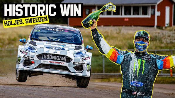 Ken Block Wins First Ever All Electric World Rallycross Race - Projekt E!