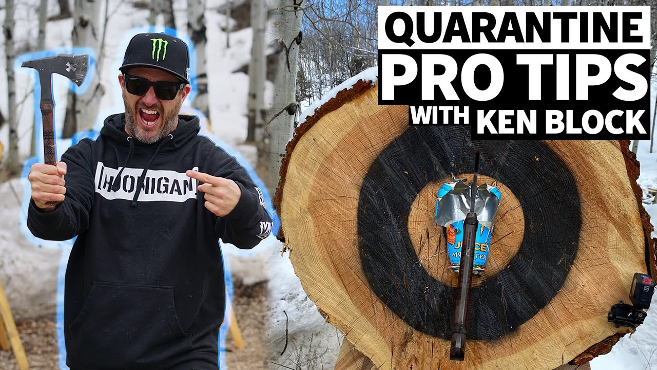 Ken Block's PRO TIPS for Quarantine Entertainment + Slo-Mo Monster Can Destruction!