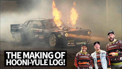 Hooni-Yule Log! The Story Behind Ken Block's 2-Hour Fire Spitting Hoonicorn Yule Log Video