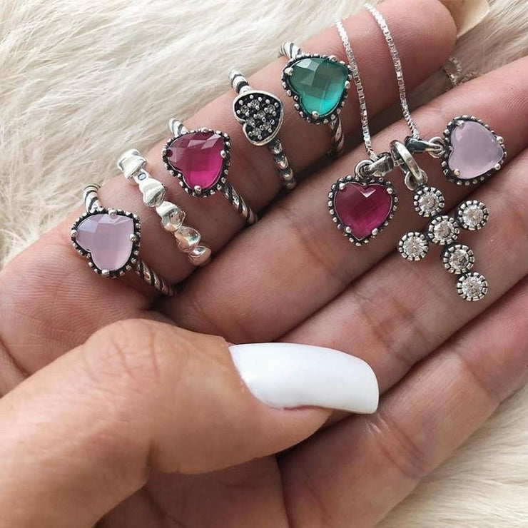 Boho 6 Piece Retro Ring Set - $5 PROMO FREE SHIPPING TODAY ONLY
