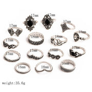 Boho Antique Vintage 15 Piece Ring Set - $5 PROMO FREE SHIPPING TODAY ONLY