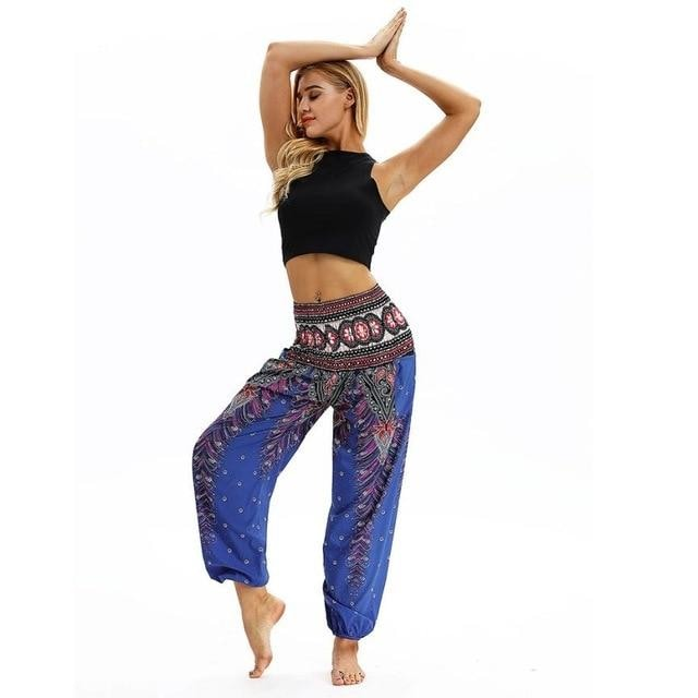 Harem/Yoga Pants (One Size Fits All) - Blue / One Size