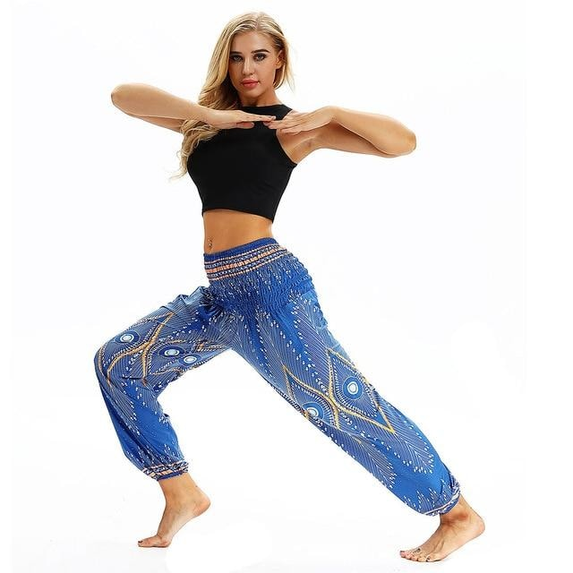 Harem/Yoga Pants (One Size Fits All) - Light Blue / One Size