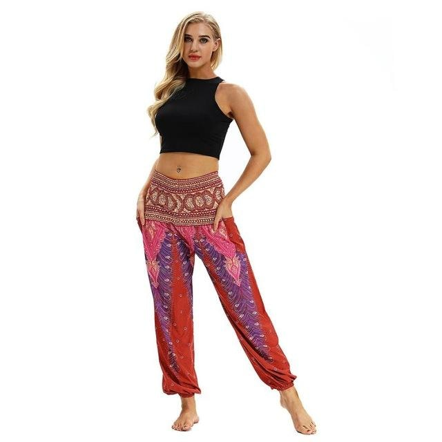 Harem/Yoga Pants (One Size Fits All) - Red / One Size