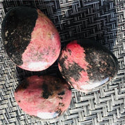 Red Tourmaline Palm Stone