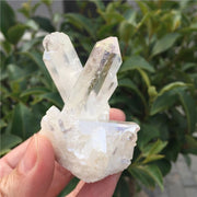 White Angel Aura Titanium Crystal Quartz Cluster