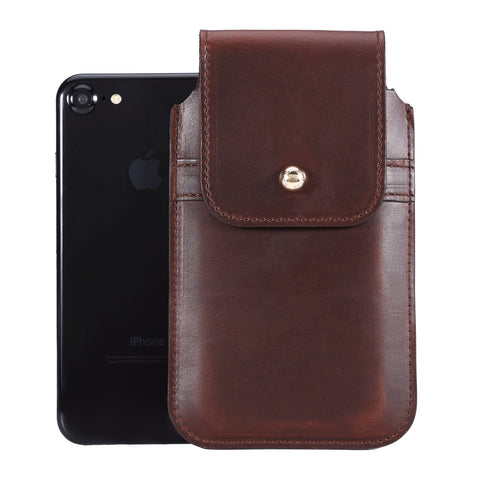 Horween Chromexcel Havana Brown Leather - Barrett 2017 Holster Case for iPhone 8 - Blacksmith-Labs