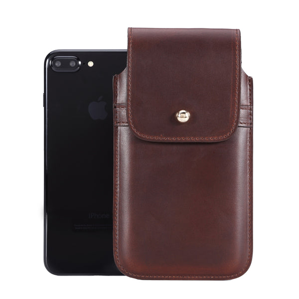 Limited Edition: Barrett 2017 Belt Clip Holster for Apple iPhone 6/6s/7 Plus (5.5 inch screen) - Horween Chromexcel Havana Brown Leather Finish