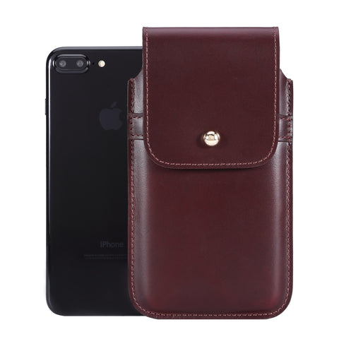 Burgundy Leather - Barrett 2017 Holster Case for iPhone 8 Plus - Blacksmith-Labs
