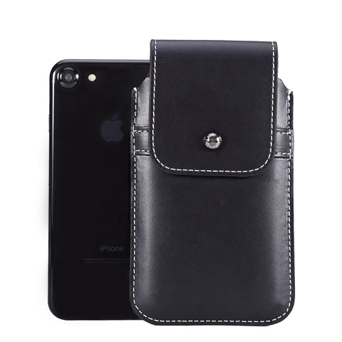 Horween Chromexcel Lapis Blue Leather - Barrett 2017 Holster Case for iPhone 8 - Blacksmith-Labs