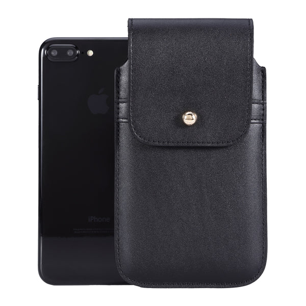 Barrett 2017 Belt Clip Holster for Apple iPhone 6/6s/7 Plus (5.5 inch screen) - Black Cowhide Leather Finish