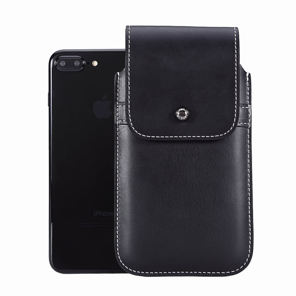 Horween Chromexcel Lapis Blue Leather - Barrett 2017 Holster Case for iPhone 8 Plus - Blacksmith-Labs