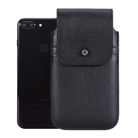Black Leather - Barrett 2017 Holster Case for iPhone 8 Plus - Blacksmith-Labs