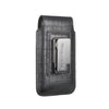 Black Croc Embossed Leather - Barrett 2017 Holster Case for iPhone 8 - Blacksmith-Labs
