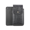 Black Croc Embossed Leather - Barrett 2017 Holster Case for iPhone 8 Plus - Blacksmith-Labs