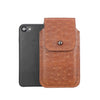 Brown Ostrich Embossed Leather - Barrett 2017 Holster Case for iPhone 8 - Blacksmith-Labs