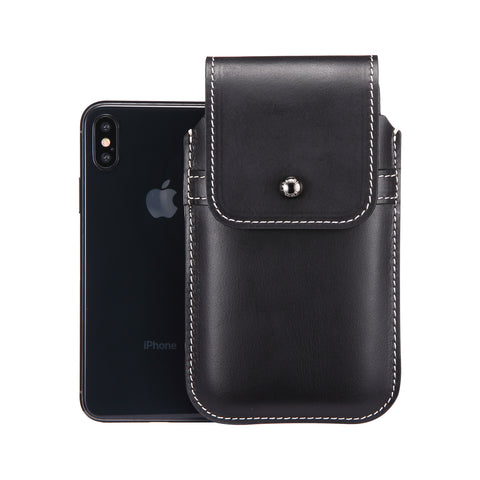 Horween Chromexcel Lapis Blue Leather - Barrett 2017 Holster Case for iPhone X - Blacksmith-Labs