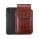 Brown Croc Embossed Leather - Barrett 2017 Holster Case for iPhone X