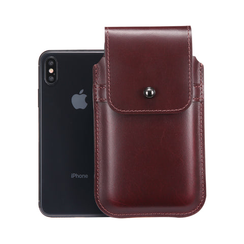 Burgundy Leather - Barrett 2017 Holster Case for iPhone X - Blacksmith-Labs