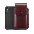 Burgundy Leather - Barrett 2017 Holster Case for iPhone X