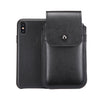 Black Leather - Barrett 2017 Holster Case for iPhone X - Blacksmith-Labs