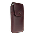 Barrett Belt Clip Holster for Apple iPhone 5/5s/SE - Horween Chromexcel #5872 Burgundy Leather